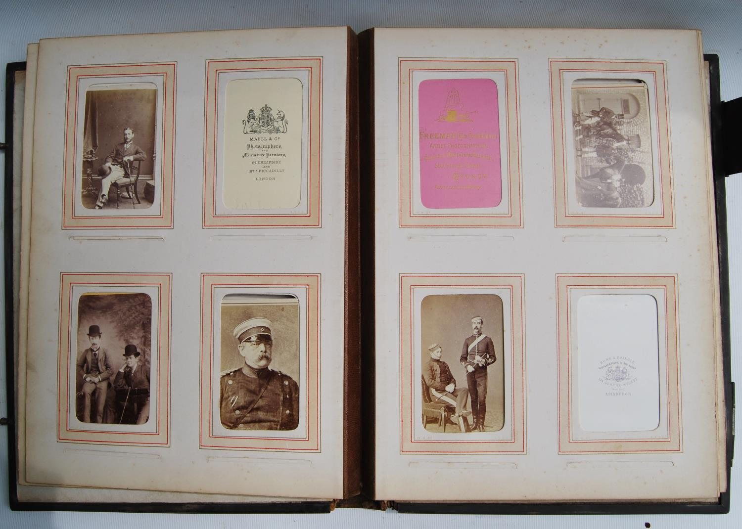 Victorian photograph album belong to Harden Burnley, signed 1870, comprising of royalty, officers - Image 8 of 10