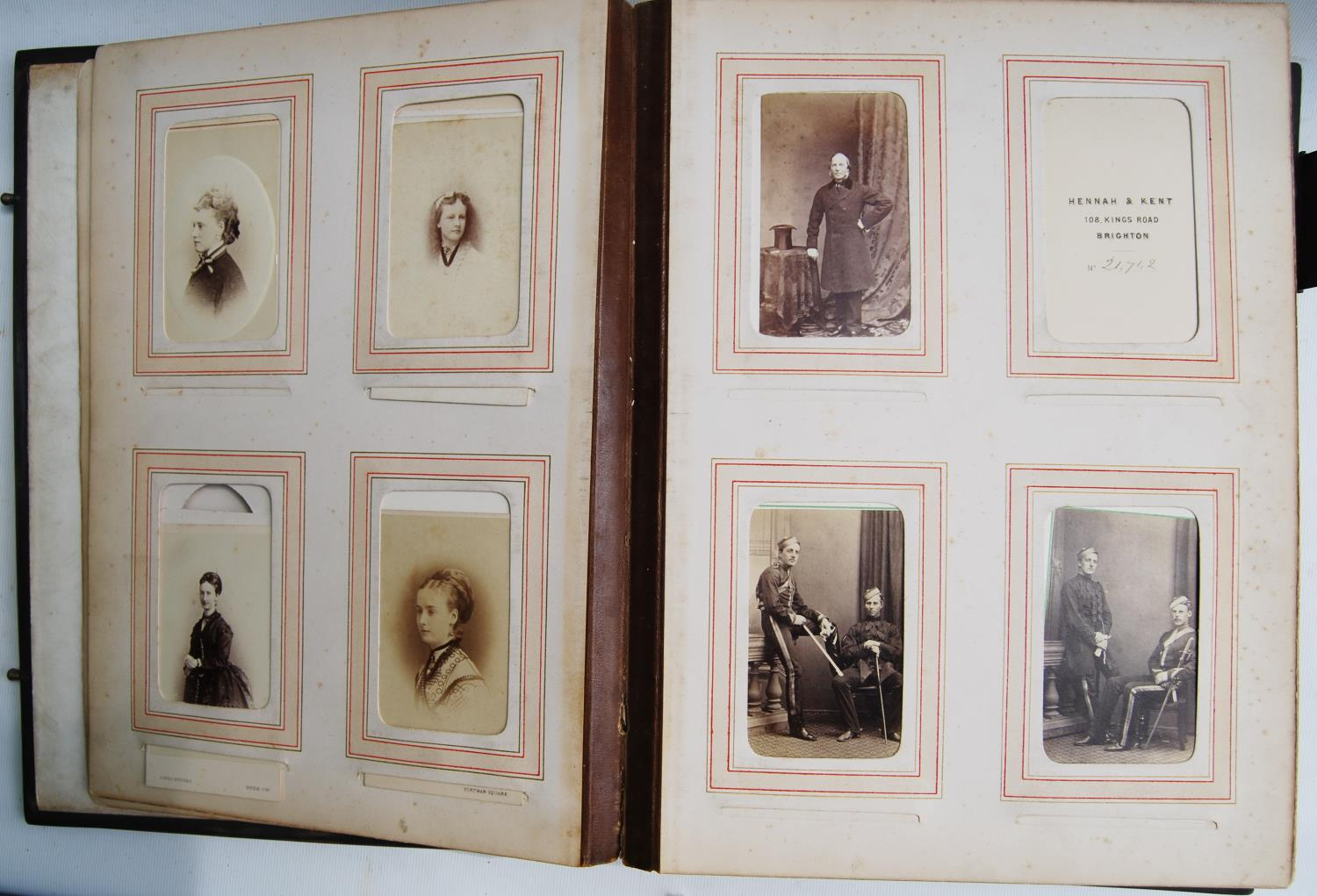 Victorian photograph album belong to Harden Burnley, signed 1870, comprising of royalty, officers - Image 4 of 10