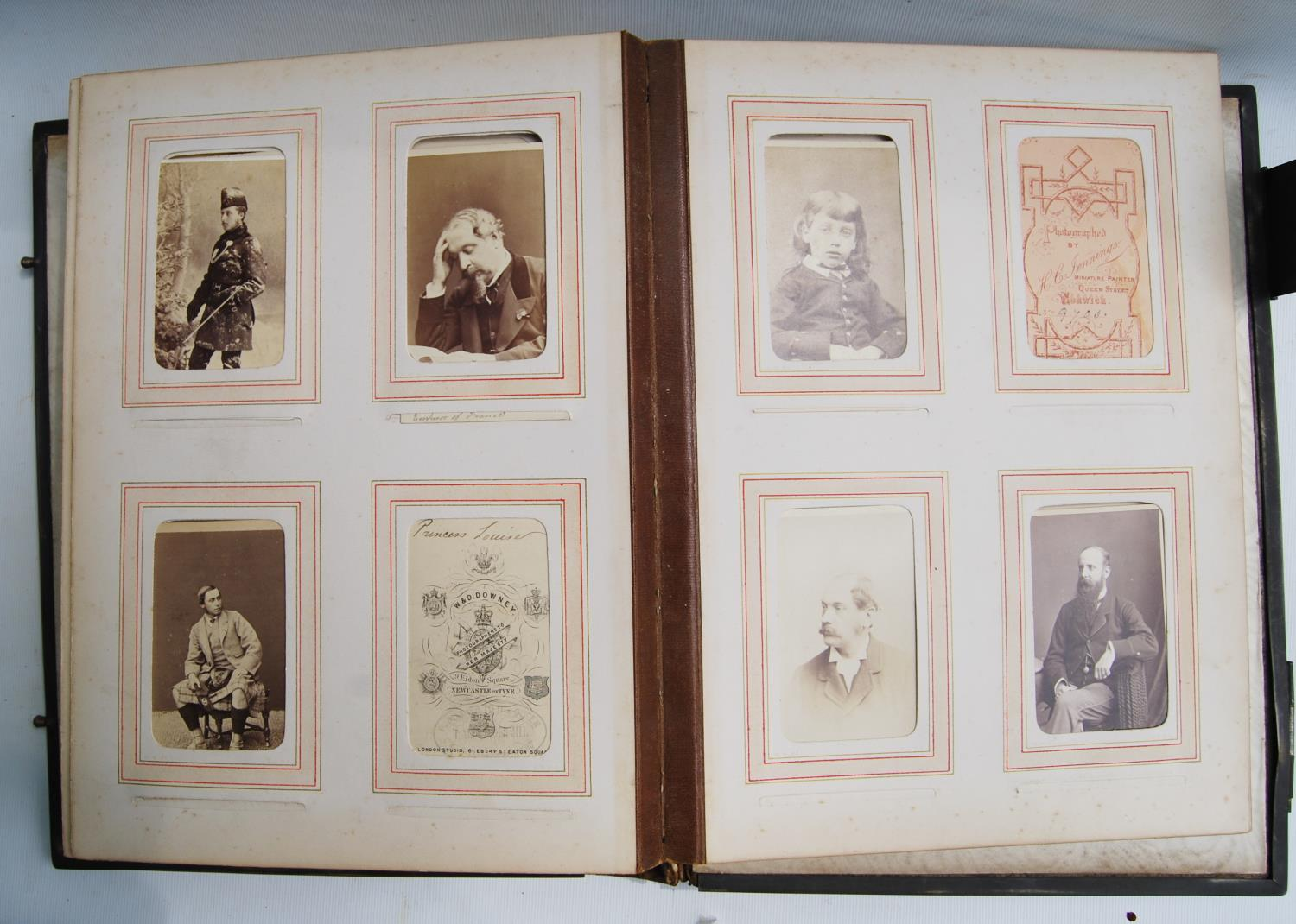 Victorian photograph album belong to Harden Burnley, signed 1870, comprising of royalty, officers - Image 6 of 10