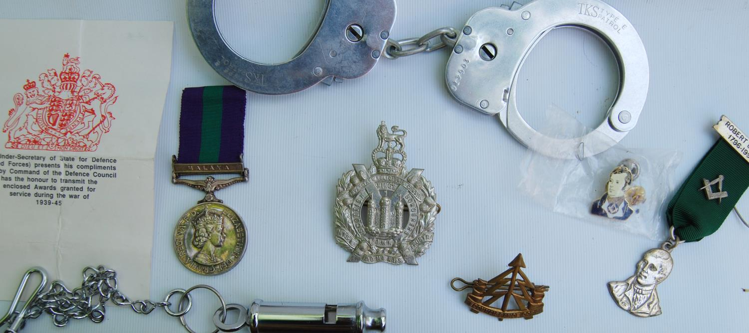 Elizabeth II General Service medal with Malaya bar for Private J Kennan, King's Own Scottish - Image 2 of 3