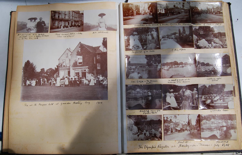 Fine Edwardian photograph album, c. 1907, relating to the Pitt family comprising Henley Regatta, - Image 22 of 22