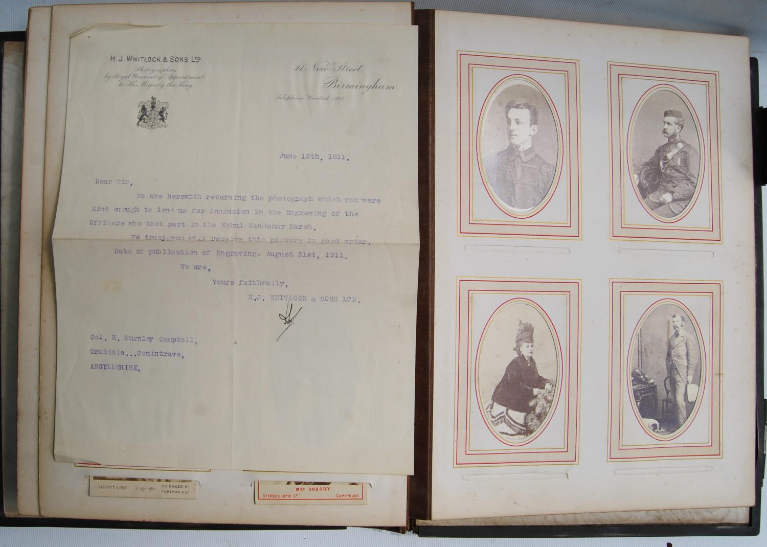 Victorian photograph album belong to Harden Burnley, signed 1870, comprising of royalty, officers - Image 7 of 10
