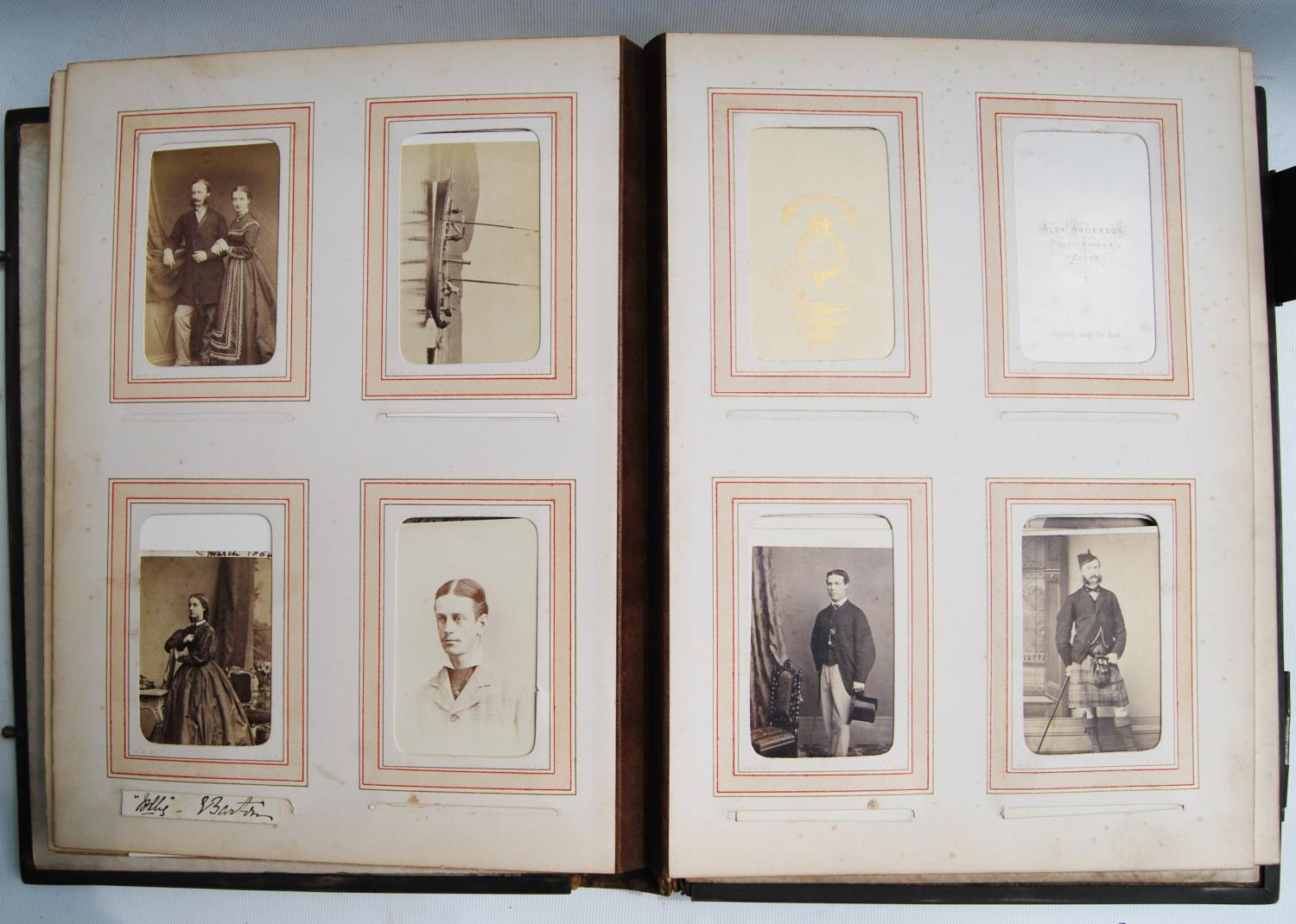 Victorian photograph album belong to Harden Burnley, signed 1870, comprising of royalty, officers - Image 5 of 10