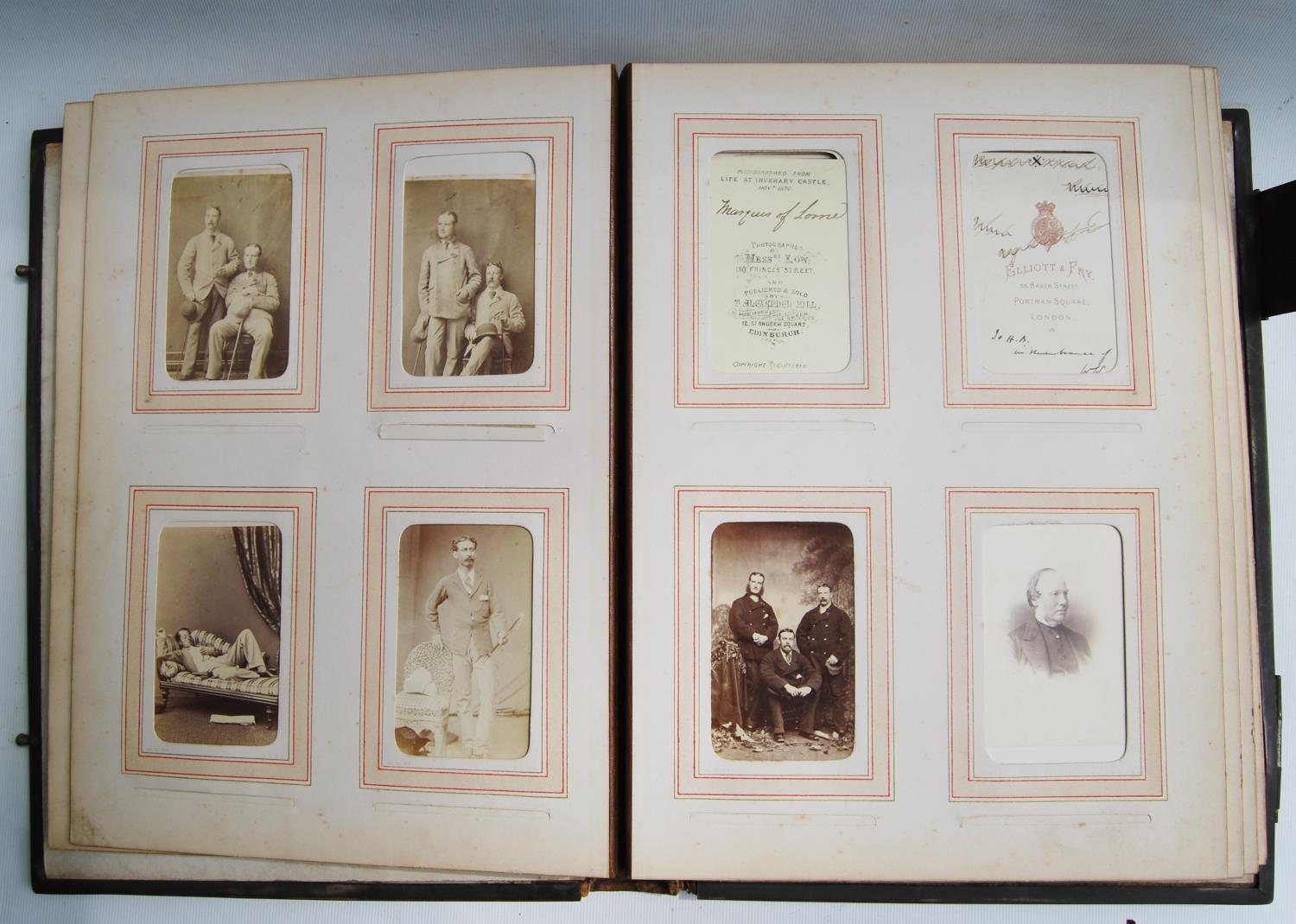 Victorian photograph album belong to Harden Burnley, signed 1870, comprising of royalty, officers - Image 9 of 10