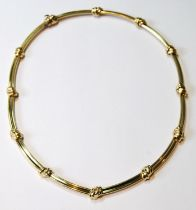 18ct gold necklace with knot joints, 45g.