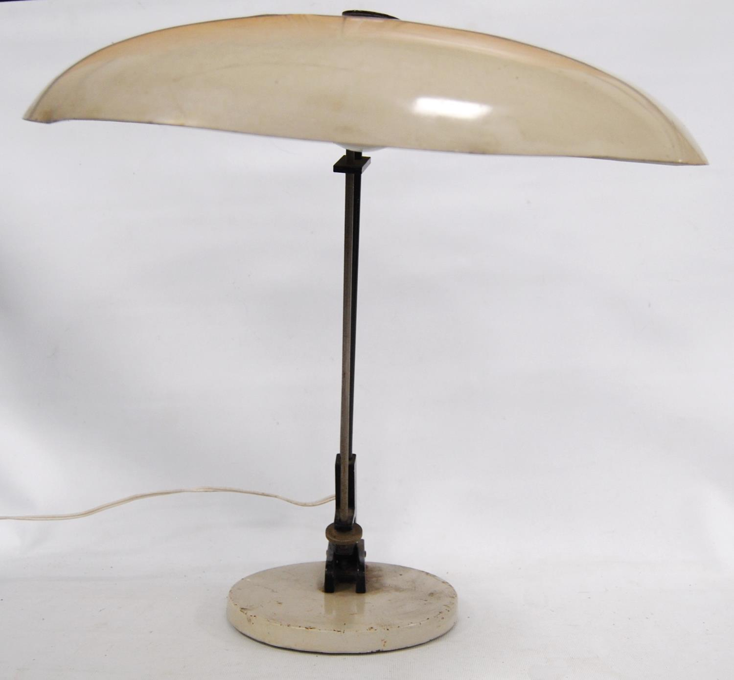 1950s Dutch Nedalo table lamp with enamelled shade, 45cm high. - Image 3 of 4