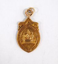 Highland and Agricultural Society of Scotland armorial fob medal, '15', engraved verso '53 Years W