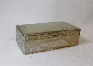 Silver cigarette box with cushion cover, plain, Birmingham 1940.