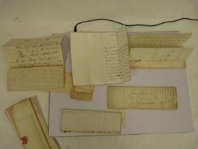 Letters. 20manuscript letters, 1790s - 1850`s from Lord Lovat, Duke of Gordon, Duke of
