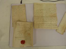 Letters.3 manuscript letters from John Kemble, the actor, Theatre Royal, Drury Lane & elsewhere,