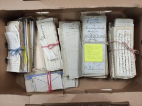 FAMILY OF GRANT, of Bught, & others.A carton of documents & letters, dispositions & charters (
