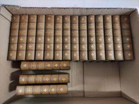 STEVENSON R. L.Tusitala Edition of The Works. 35 vols. in seventeen. 12mo. Green half calf,