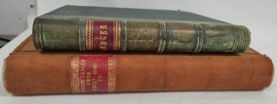 WARRAND DUNCAN (Compiler).2 large folio ledgers containing copious information of historical &