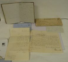 WARRAND Lt. ALEXANDER J. C., 35th Regiment. Quarto exercise book in marbled brds., full, containing