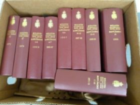BRITH MUSEUM.Bulletin (Geology). Vols. 1 to 21 plus Supplements 1 to 8 in four. Orig. red or