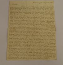 """McNAB WILLIAM. Buenos Aires.Very detailed manuscript """"ship letter"""" to Irvine, Ayrshire describing"""