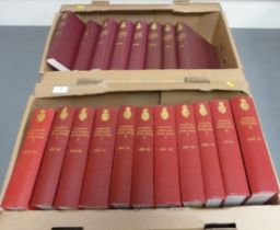 BRITISH MUSEUM.Bulletin (Zoology). A run from Vol. 1 to Vol. 19. Orig. red or maroon cloth. Some
