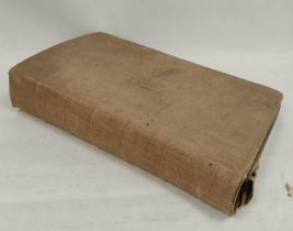 Early 19th Century Members of Parliament. Signatures.A folio album in canvas covered brds. cont.