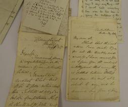Letters.11 manuscript letters incl. from Verney Lovett Cameron, George Cruickshank (2), Joseph