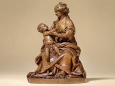 Meisterliche Skulptur des Klassizismus, 1750/70, Mutter mit Kind/Madonna