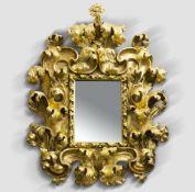 Musealer Prunkspiegel, Italien, Rom, 1680/1700