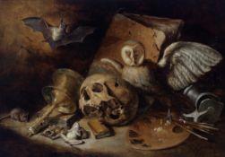 Vanitasstillleben, um 1630/40, Niederländisch 2. Viertel 17. Jahrhundert