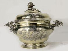 Prächtige Rokoko Silber-Zuckerdose, Berliner Silber, um 1760