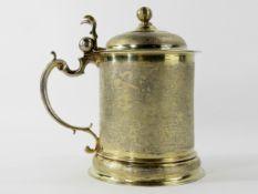 Schlangenhaut Deckelhumpen, Augsburger Silber, 17. Jahrhundert