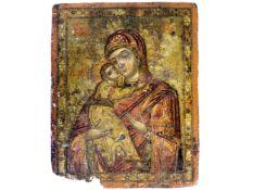 Tafelbild/Ikone, Veneto Kretisch, 12.-14. Jahrhundert