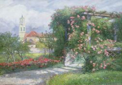 Hugo Charlemont, Jemnice 1850 – 1939 Wien, Blick auf Stift Herzogenburg in NÖ