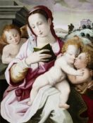 Michele Tosini, Badia di Passignano 1503 - 1577 Florenz, Maria mit dem Kind und dem Johannesknaben