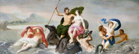 """Mythologisches Gemälde """"Poseidon"""", Italien/Rom?, 1750/70"""