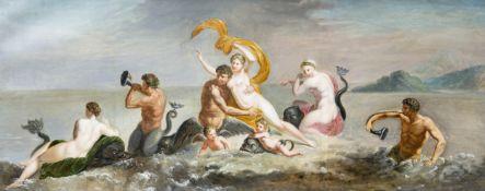 """Mythologisches Gemälde """"Triumph der Galateia"""", Italien/Rom?, 1750/70"""