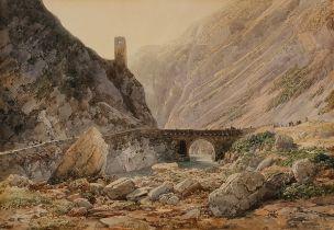 Thomas Ender, Wien 1793 – 1875 Wien, Ponte della Rochette, Aquarell