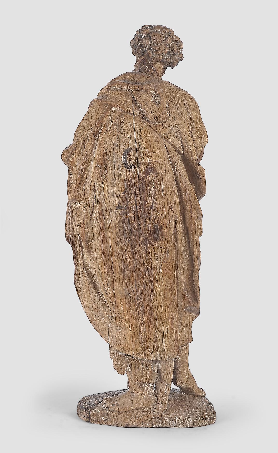 Heiliger Johannes der Täufer, Flämisch um 1500, Eichenholz - Image 6 of 6