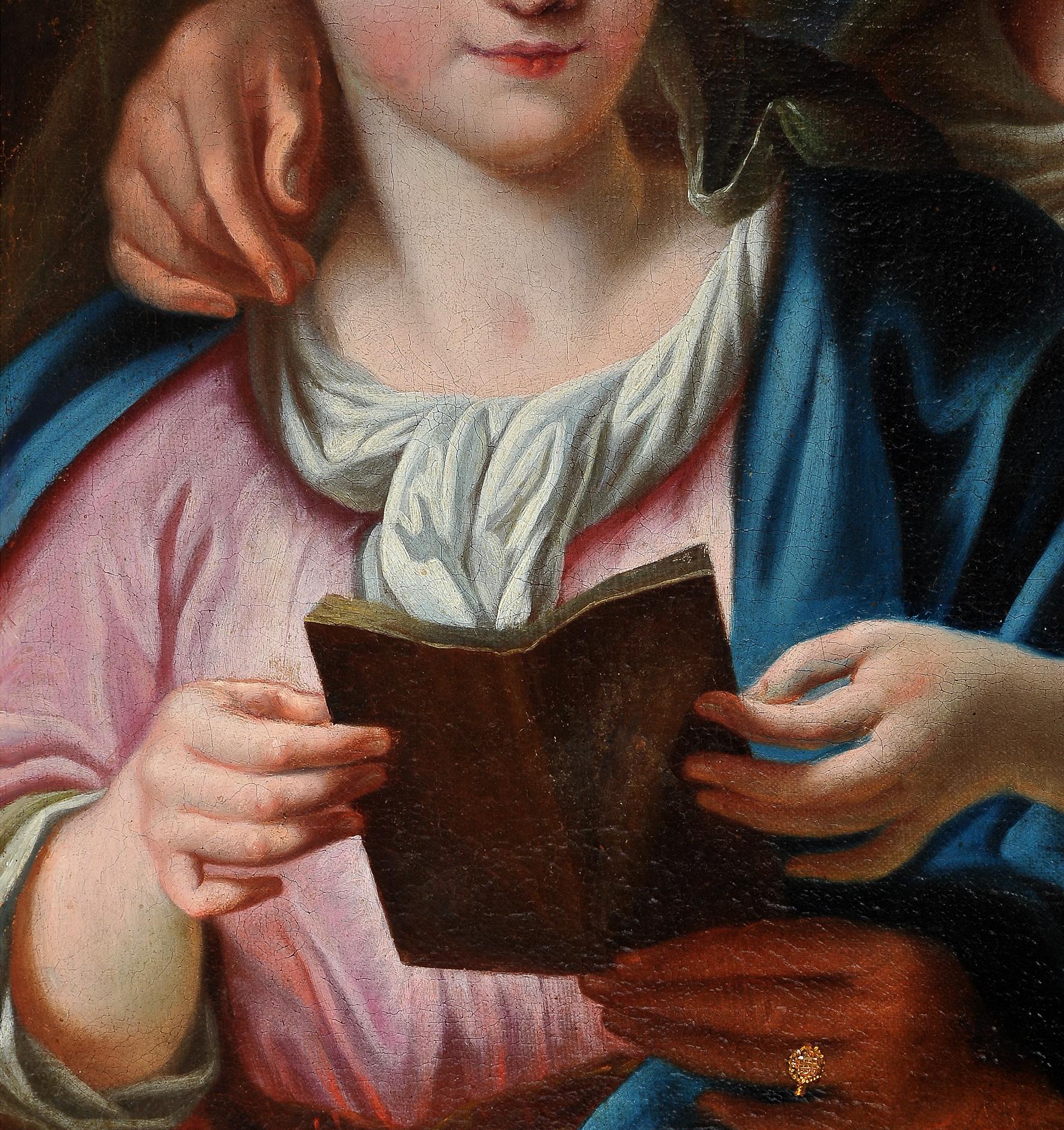 Ignaz Stern, detto Stella, Mauerkirchen 1679 – 1748 Rom (zug.), Anna die Maria das Lesen lehrt - Image 2 of 6