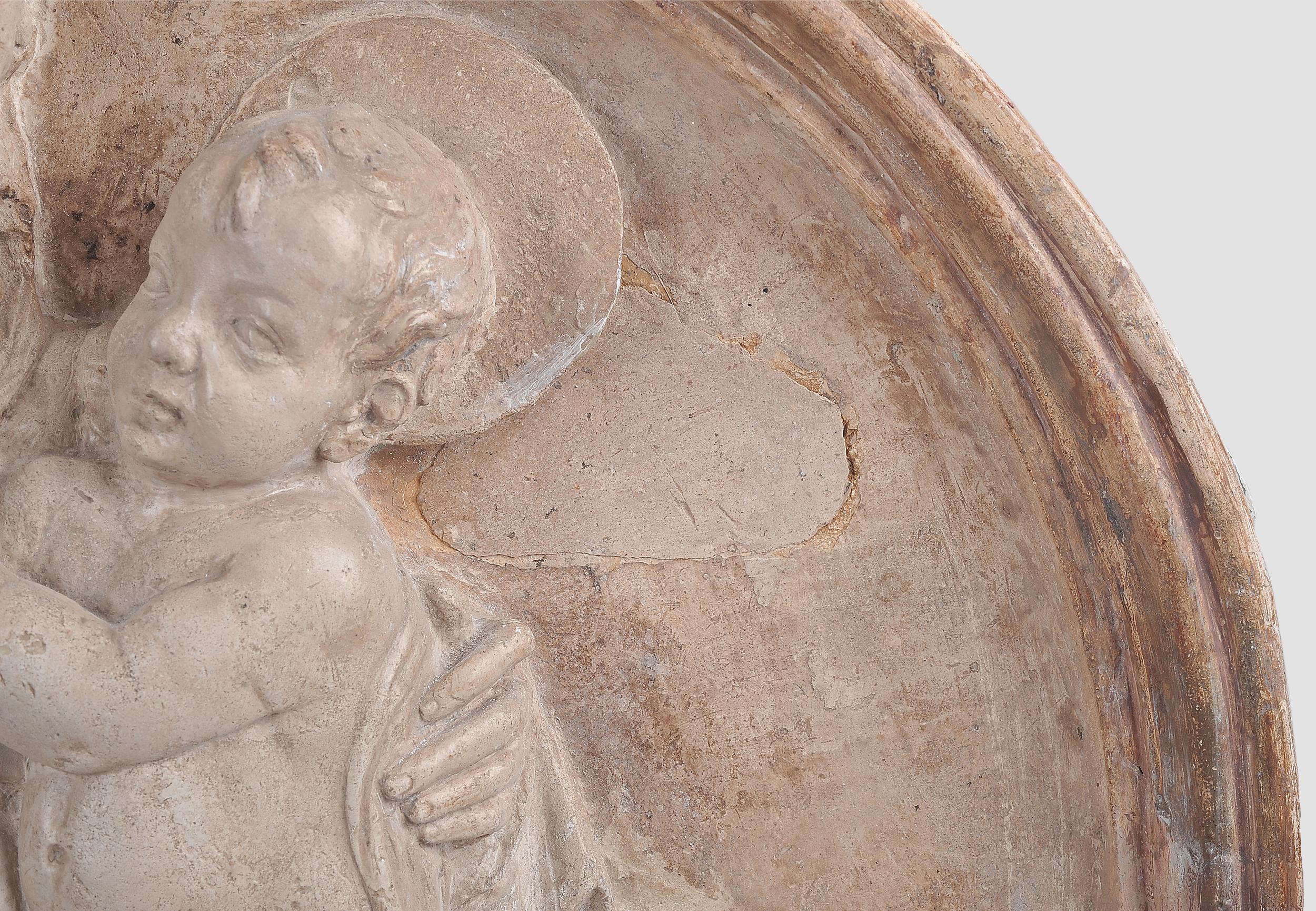 Tondo, Mutter mit Kind, Alabaster-Guss im Relief, um 1440 - Image 2 of 14