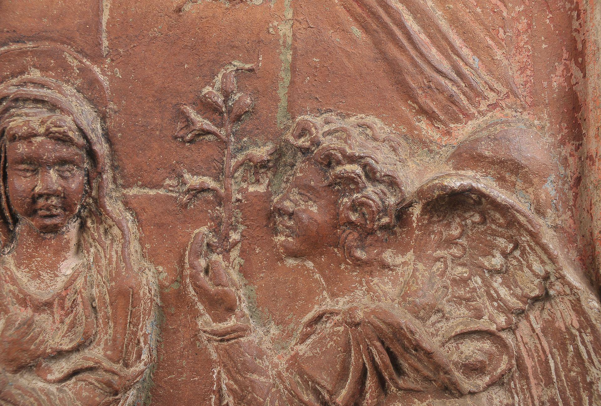 Terracotta Relief, Verkündigung Mariä - Image 5 of 9
