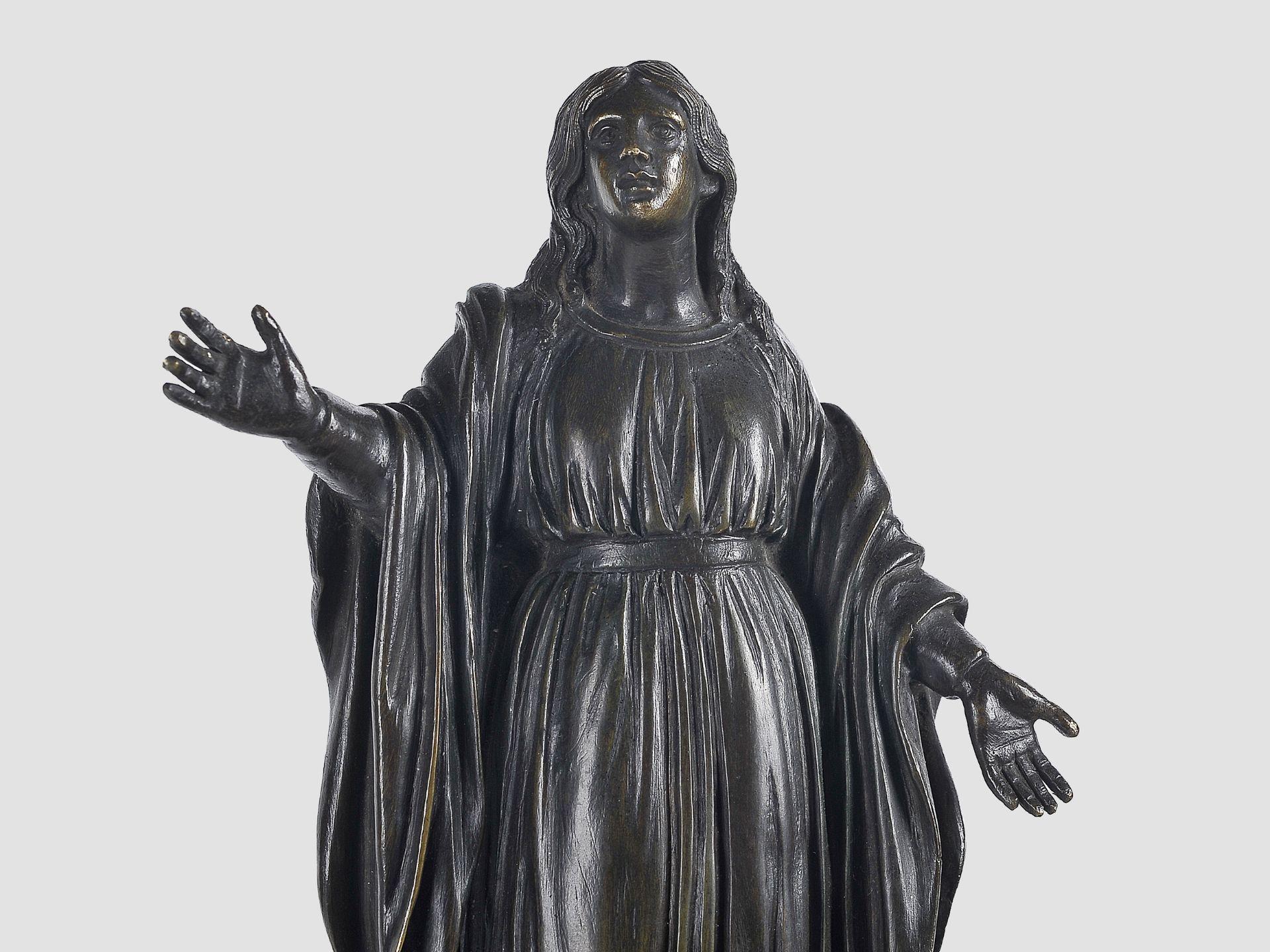 Maria Immaculata, Barock, 17. / 19. Jahrhundert, Bronze - Image 4 of 9