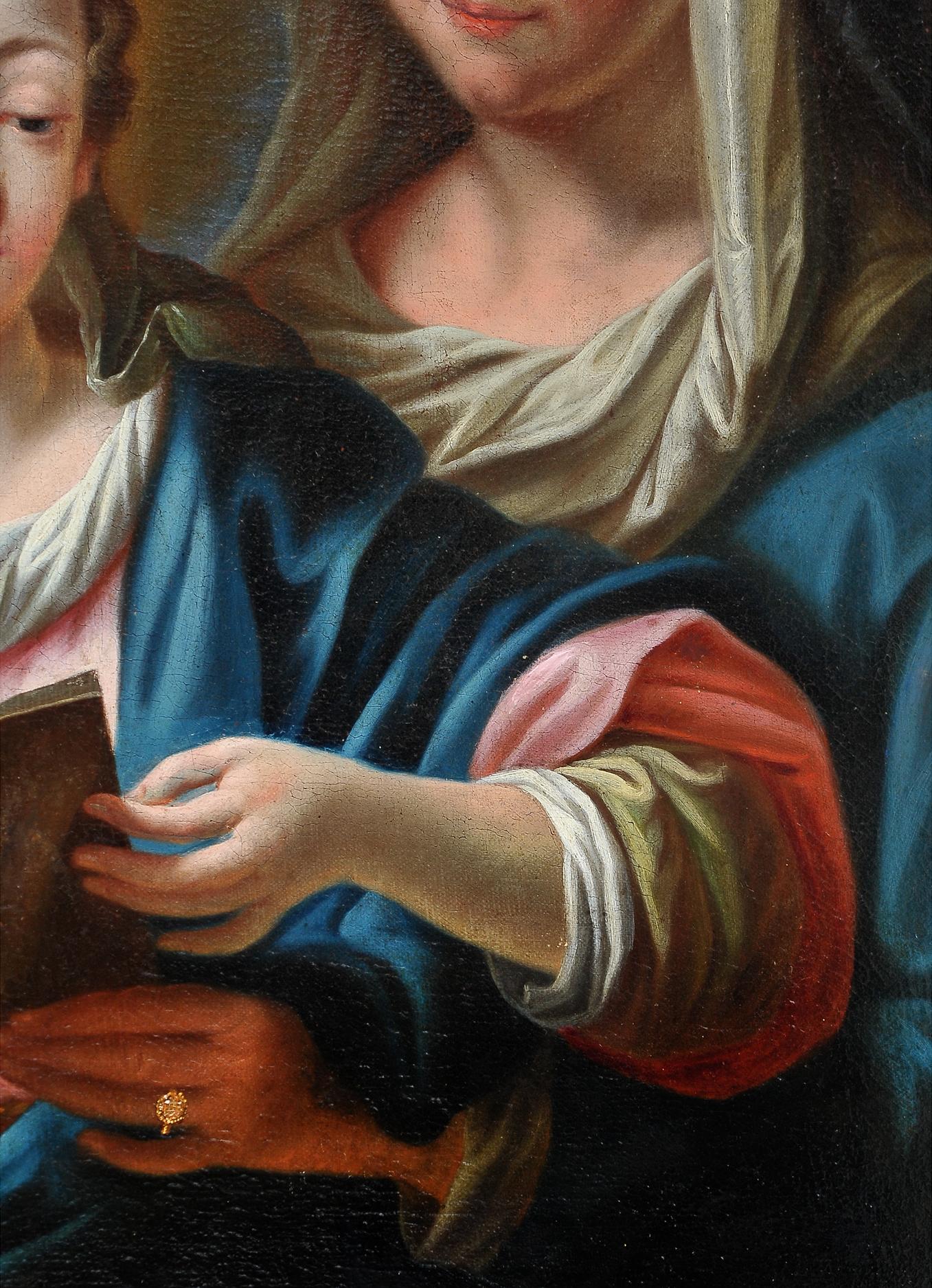 Ignaz Stern, detto Stella, Mauerkirchen 1679 – 1748 Rom (zug.), Anna die Maria das Lesen lehrt - Image 5 of 6
