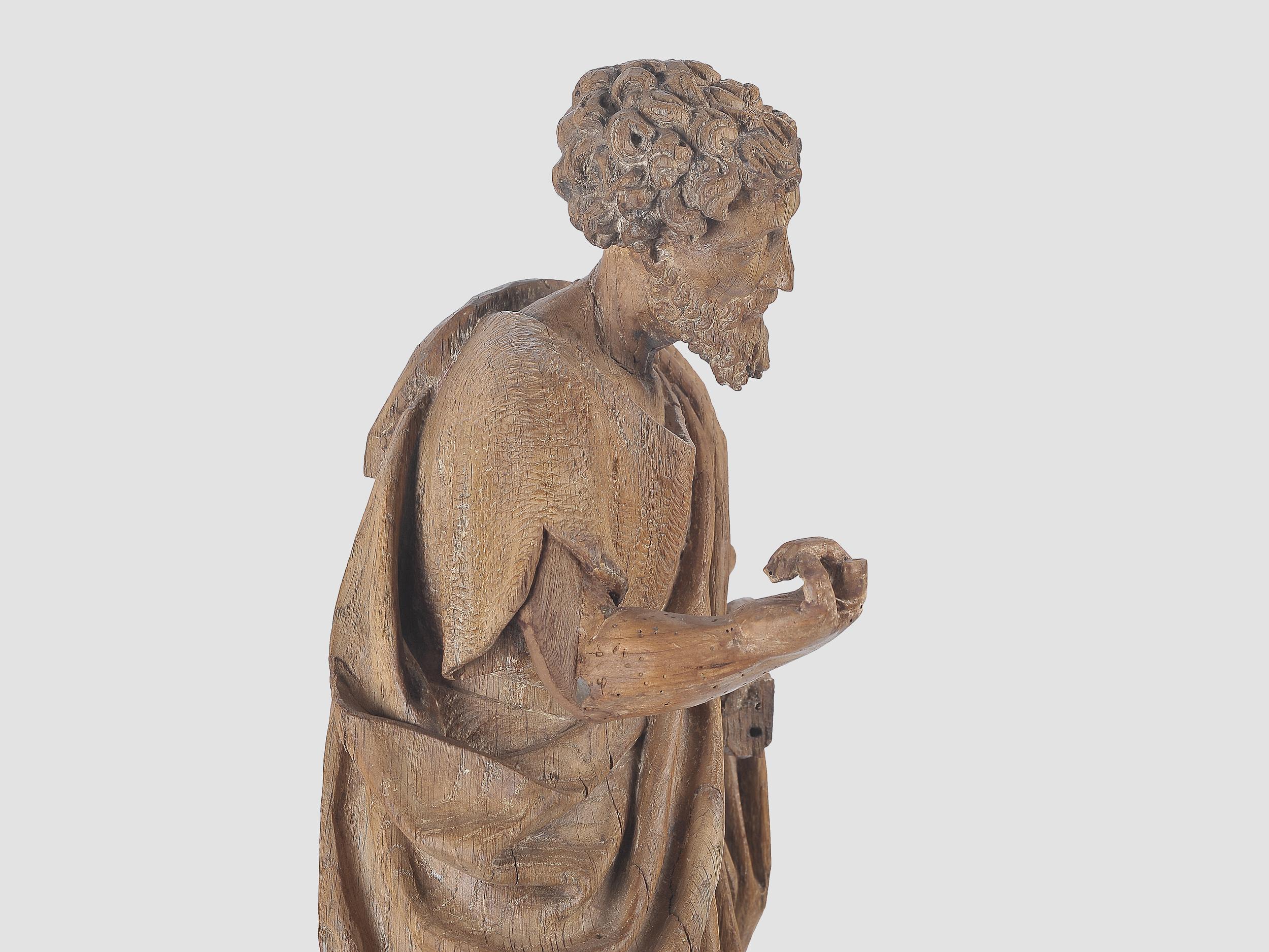 Heiliger Johannes der Täufer, Flämisch um 1500, Eichenholz - Image 5 of 6