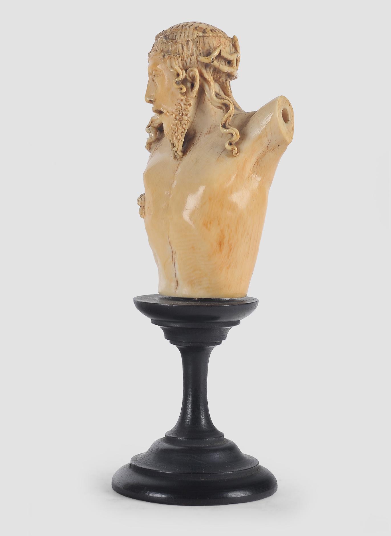 Museale Christus Büste, Spanien um 1500, Elfenbein - Image 4 of 7