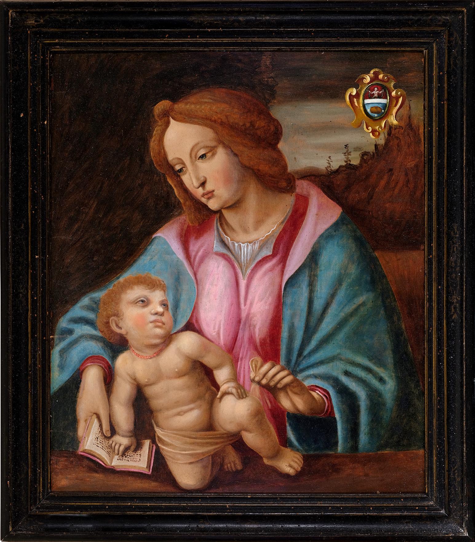 Madonna, Gemälde, 17. Jhdt. - Image 2 of 7