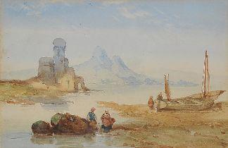 Louis Gabriel Eugene Isabey, Paris 1803 – 1886 Paris (zugeschrieben), Küstenlandschaft