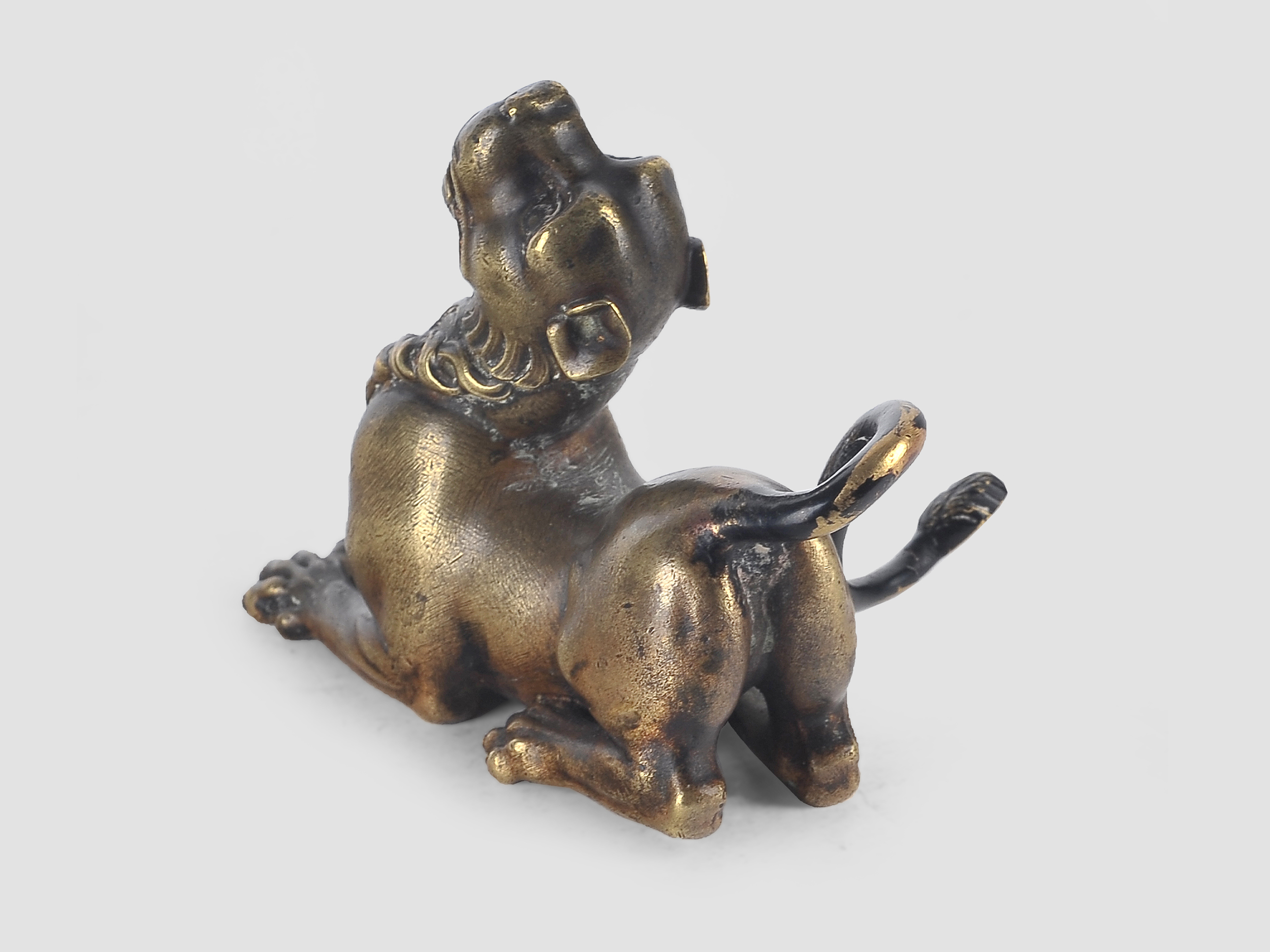 Liegender Löwe, Bronze, 16. / 19. Jahrhundert - Image 3 of 5
