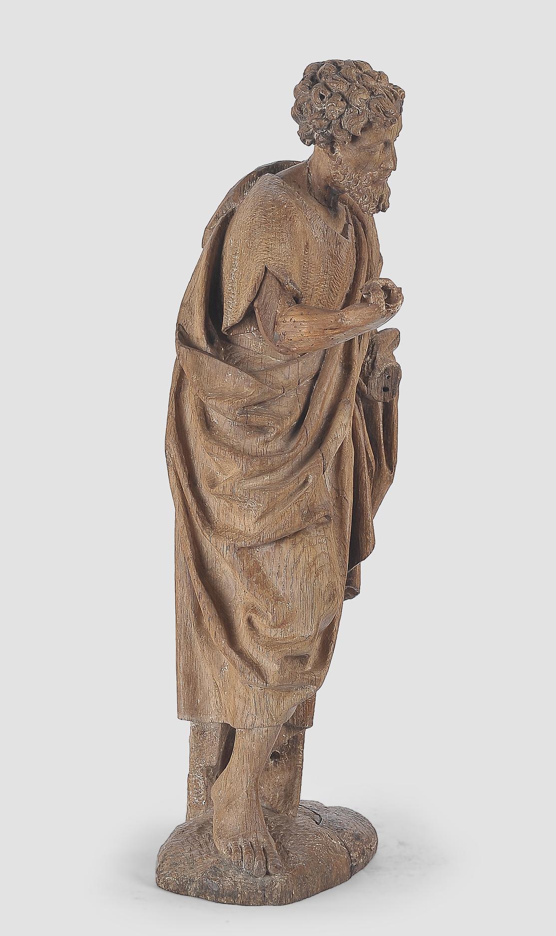 Heiliger Johannes der Täufer, Flämisch um 1500, Eichenholz - Image 4 of 6
