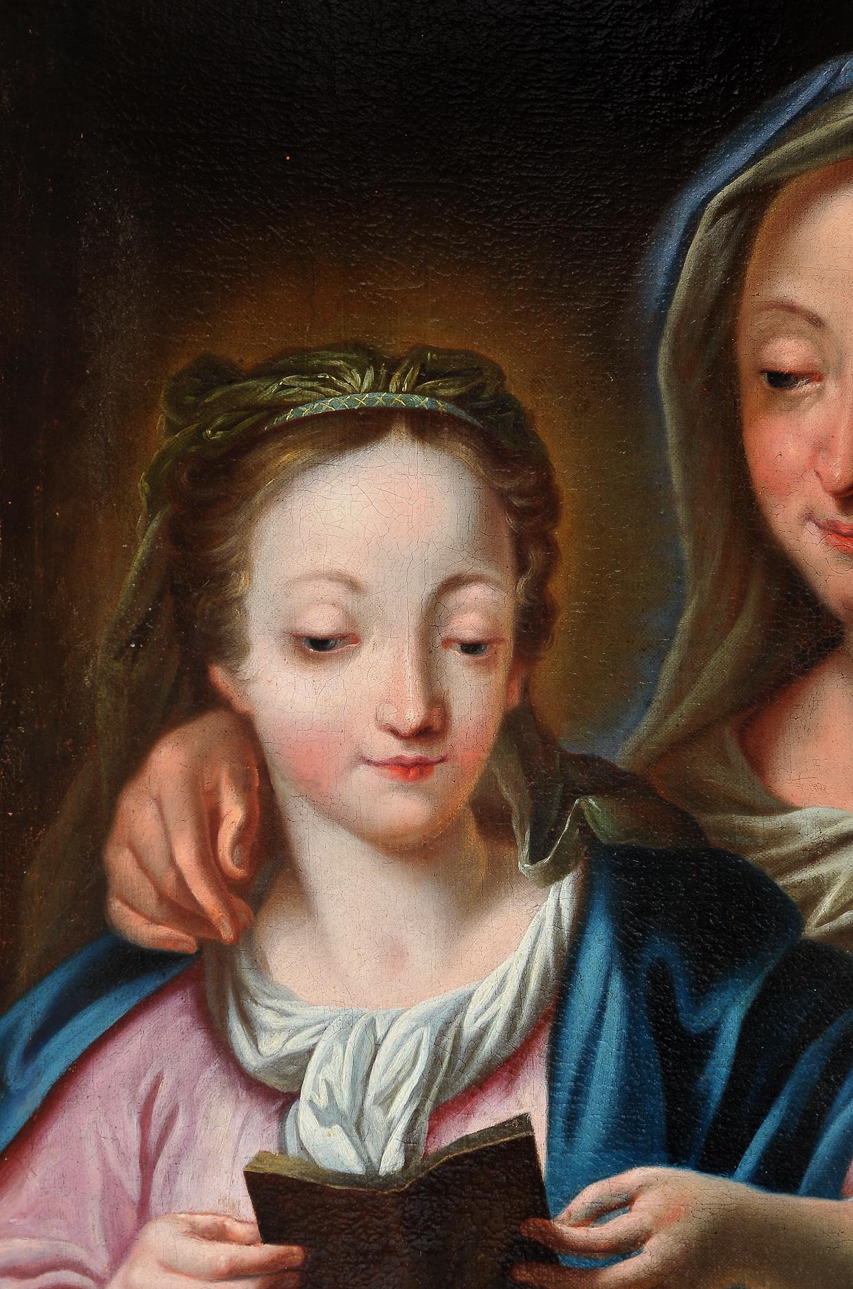 Ignaz Stern, detto Stella, Mauerkirchen 1679 – 1748 Rom (zug.), Anna die Maria das Lesen lehrt - Image 4 of 6