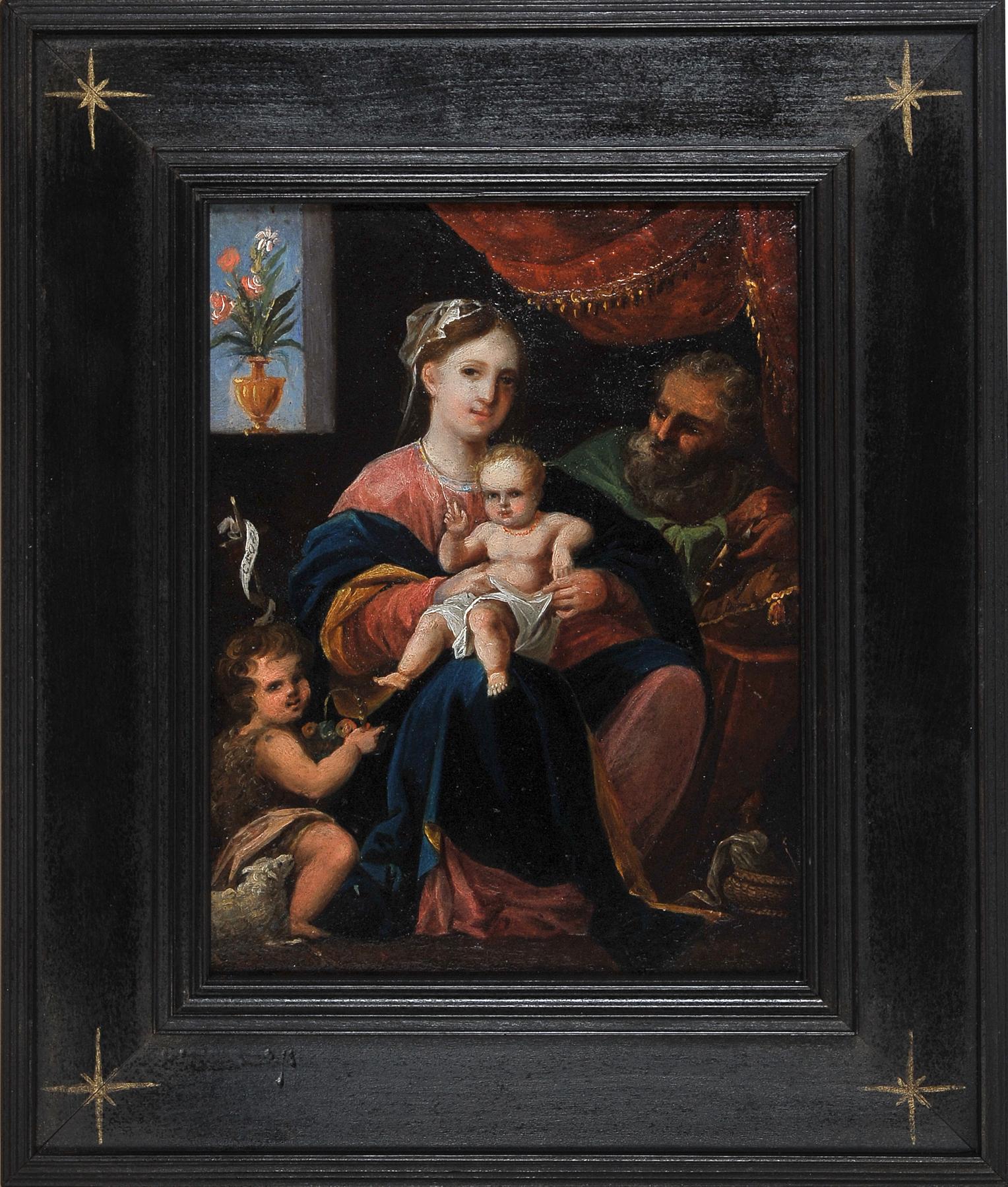Heilige Familie, Gemälde, 17./18. Jhdt. - Image 2 of 3