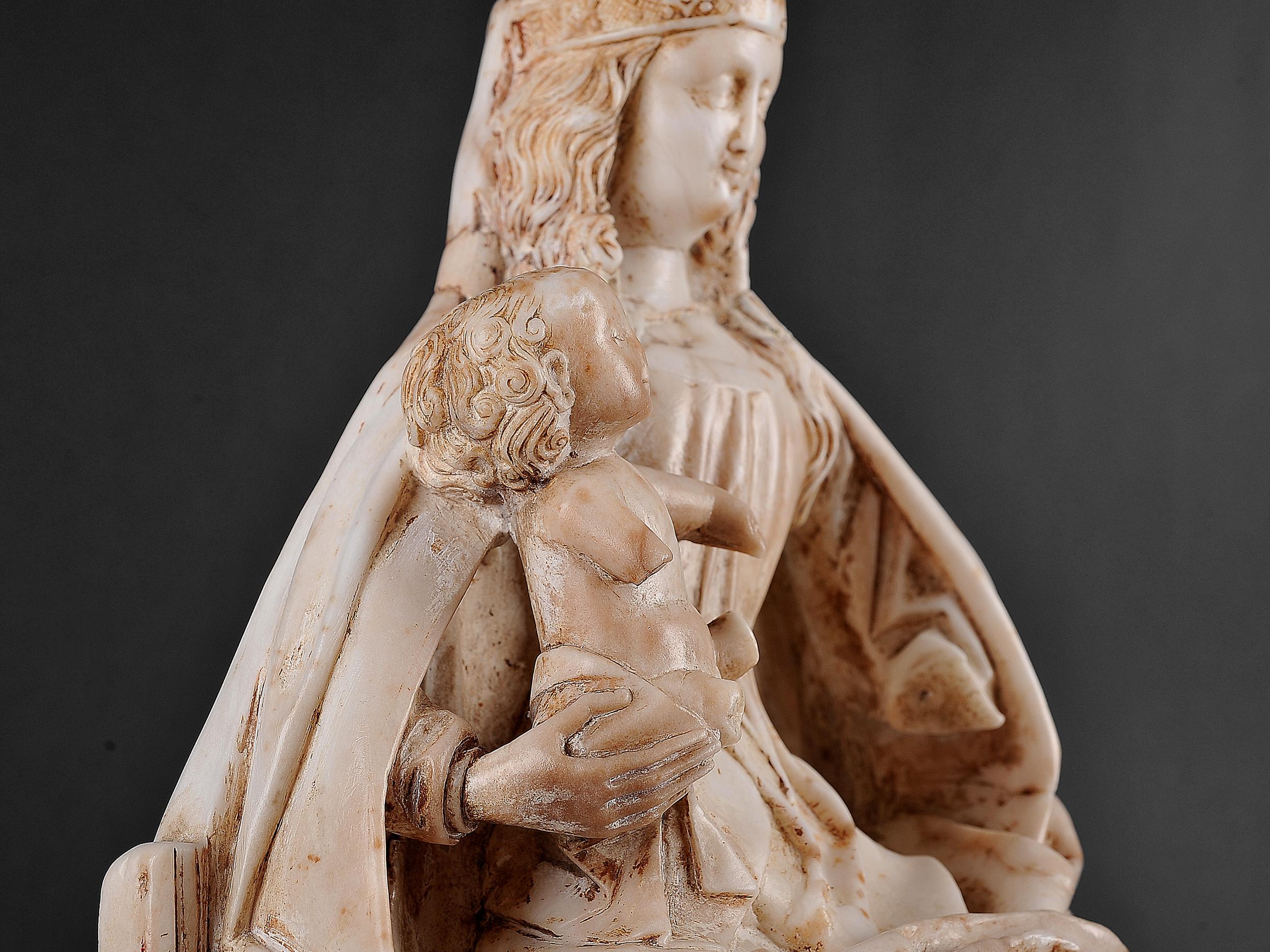 Gil de Siloe, Antwerpen 1440 – 1501 Burgos (und Werkstatt), Sitzende Madonna, um 1485/90 - Image 12 of 25