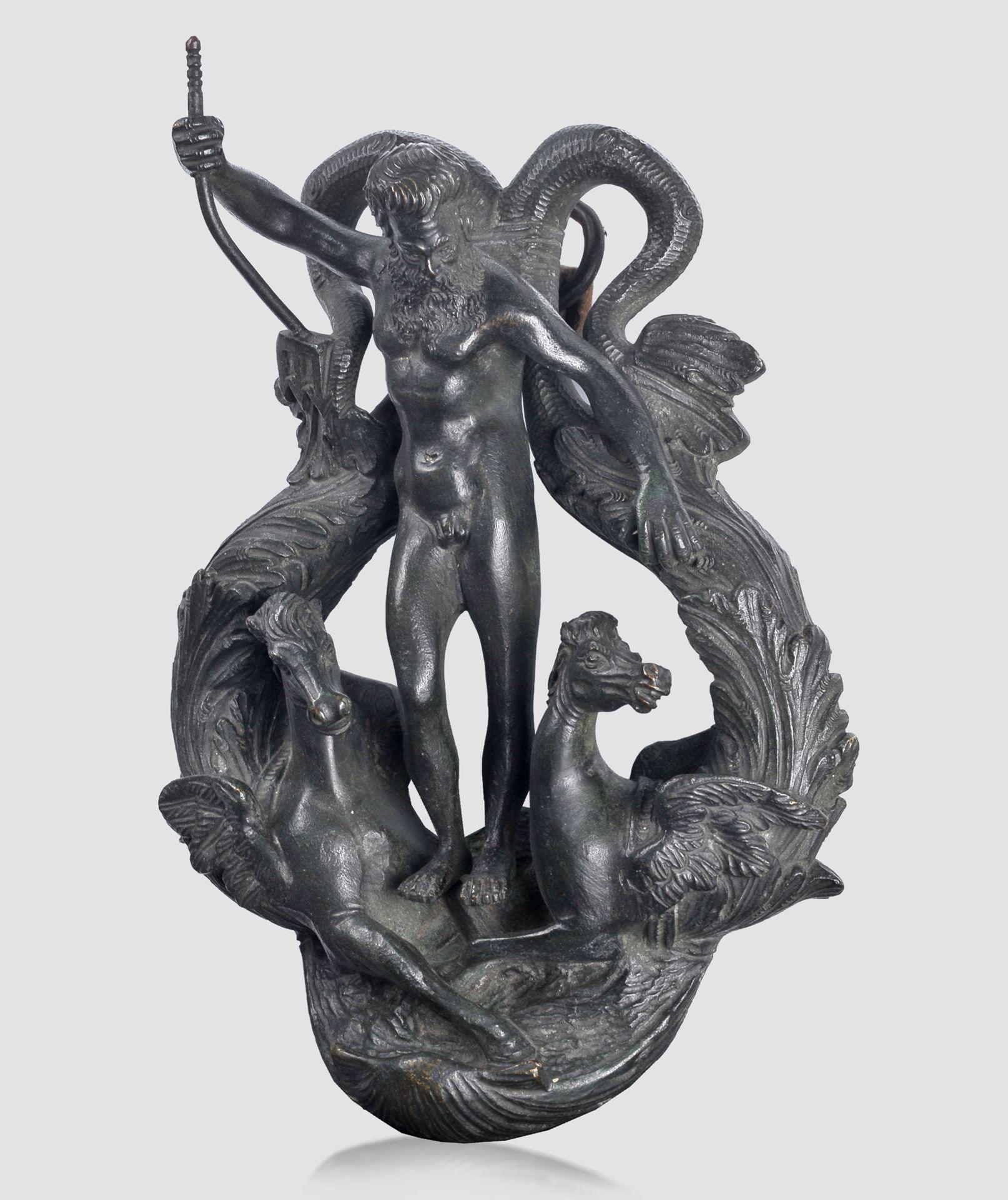 Türklopfer, Renaissancetypus, Bronze - Image 2 of 5